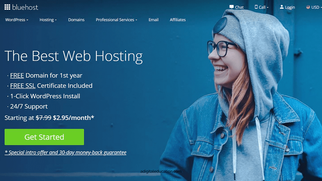starting a WordPress blog with Bluehost