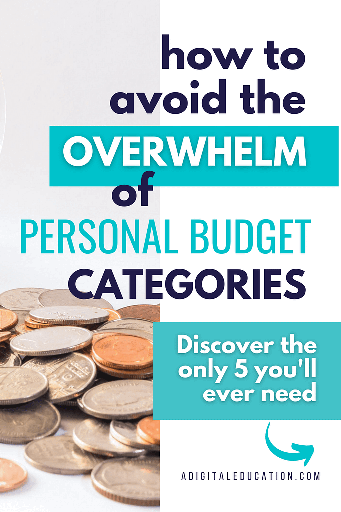 how to remove the overwhelm of personal budget categories