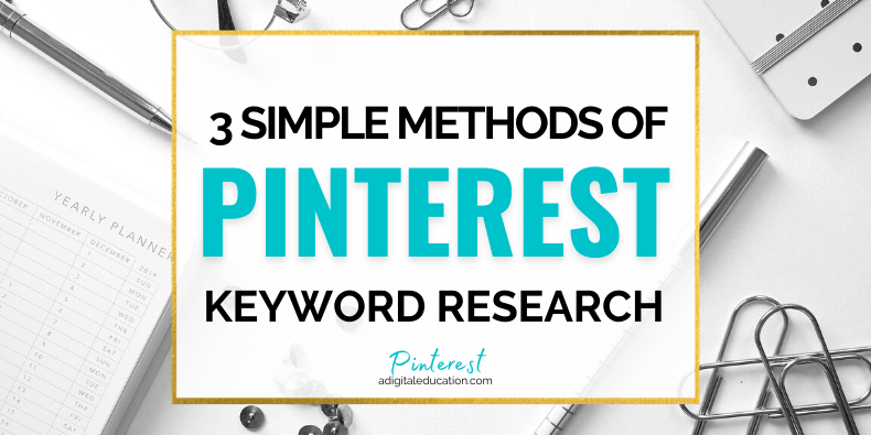 Pinterest keyword research feature image - katie and linda - a digital education