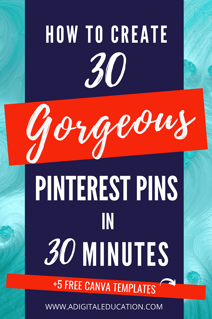how to create pinterest pins quickly in 30 minutes