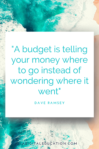 dave ramsey about money describing what a budget really is