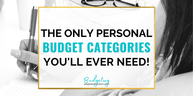 5 must have personal budget categories