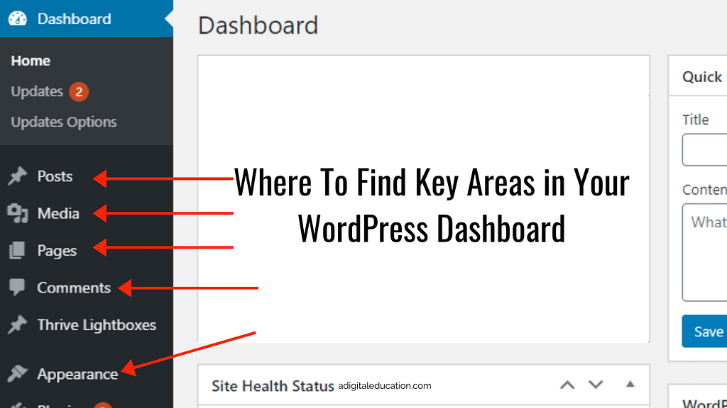 How to navigate the WordPress dashboard for beginners