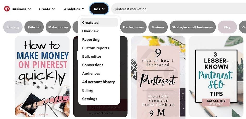 Where to find the Free Pinterest keyword tool